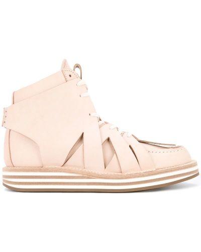 Кроссовки на шнуровке розовый Hender Scheme