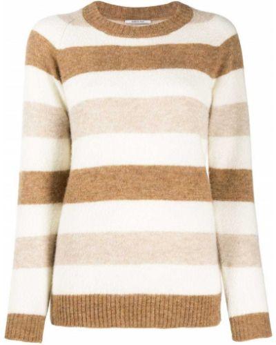 Шерстяной коричневый джемпер круглый с круглым вырезом Woolrich