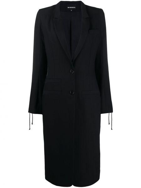 Długi płaszcz klasyczny wełniany Ann Demeulemeester