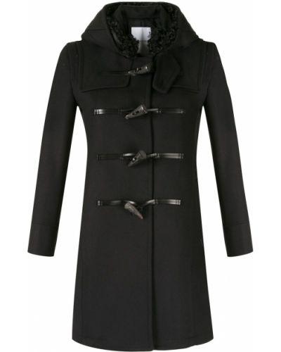 Прямое синее шерстяное длинное пальто Loveless