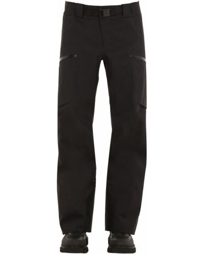 Czarne spodnie z paskiem z nylonu Arcteryx