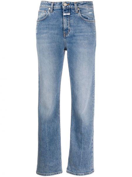 Синие прямые джинсы с поясом Closed
