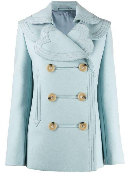 Кашемировое пальто классическое с капюшоном двубортное Lanvin