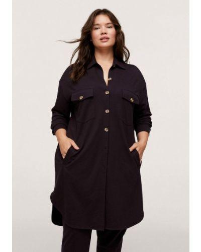 Платье рубашка - коричневое Violeta By Mango