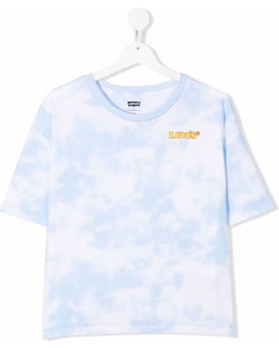 Biała t-shirt z printem Levis Kids