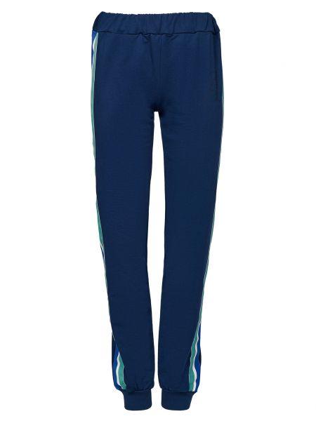 Хлопковые синие спортивные брюки Alessandro Dell'acqua