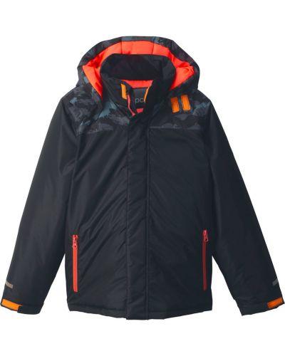 Зимняя куртка оранжевый черная Bonprix