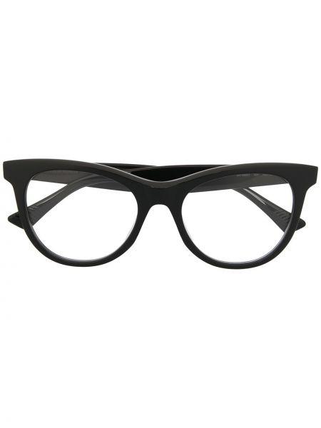 Черные очки кошачий глаз прозрачные Bottega Veneta Eyewear