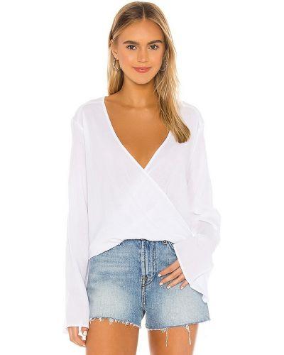 Хлопковая базовая белая блузка Blue Life