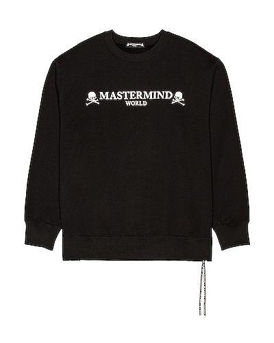 Czarna bluza dresowa skórzana Mastermind World