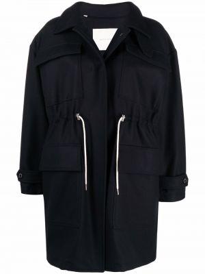 Синее длинное пальто Mackintosh