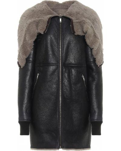 Гранж коричневое кожаное пальто двустороннее из натуральной кожи Rick Owens