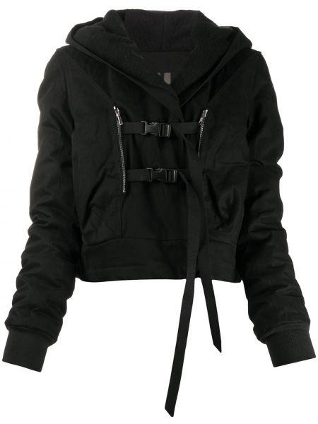 Акриловая классическая черная куртка с капюшоном с пряжкой Rick Owens Drkshdw