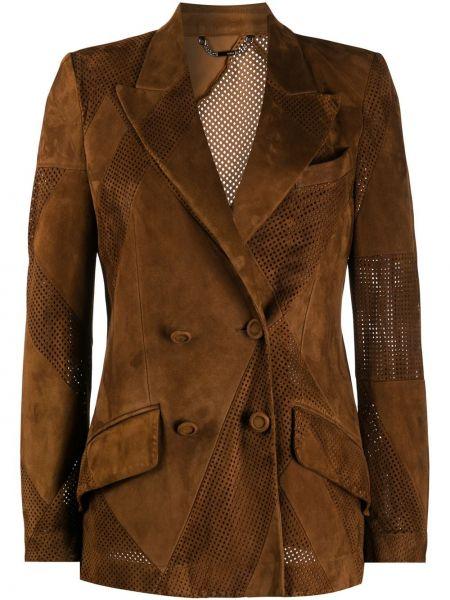 Куртка с перфорацией на пуговицах Fendi