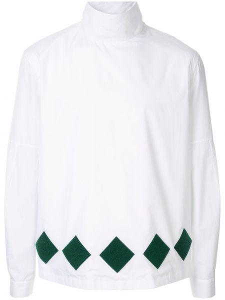 Хлопковая белая рубашка с воротником Namacheko