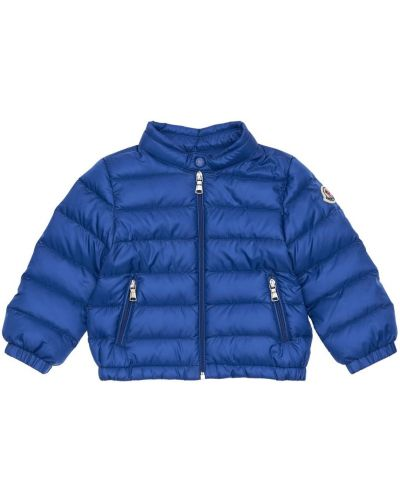 Z rękawami niebieski kurtka z kołnierzem Moncler