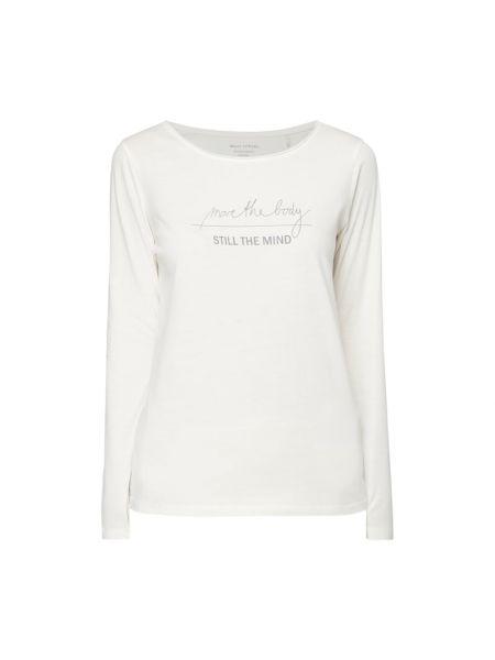 Biała piżama bawełniana z długimi rękawami Marc O'polo