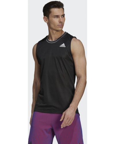 Теннисная черная футболка Adidas