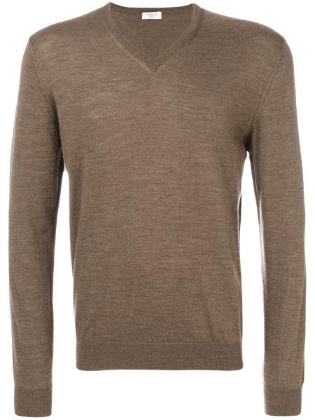 Brązowy sweter wełniany Fashion Clinic Timeless