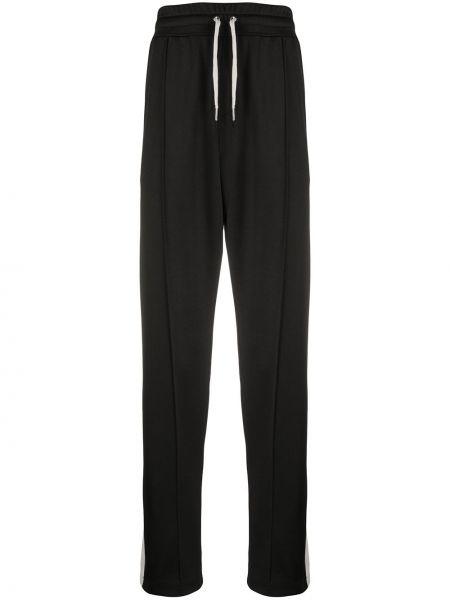 Czarne spodnie bawełniane z haftem Ami
