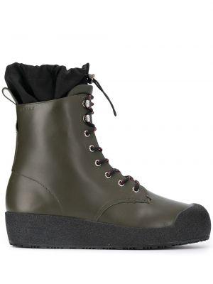 Кожаные ботинки треккинговые на шнуровке Bally