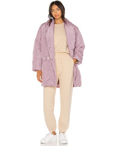 Фиолетовая дутая куртка с карманами свободного кроя Free People