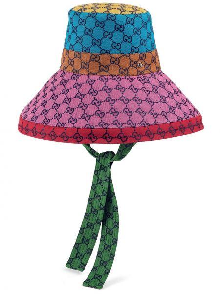 Różowy kapelusz Gucci