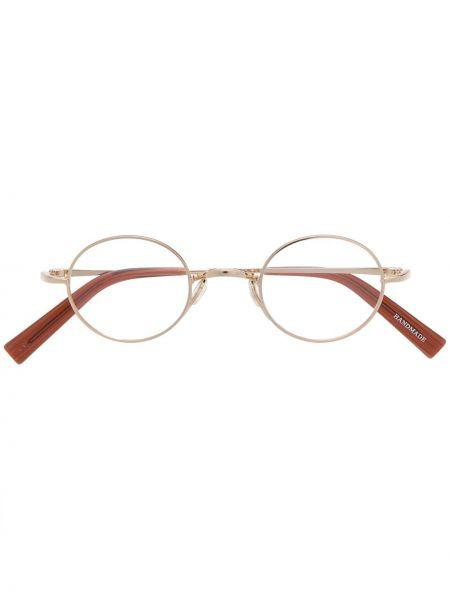Złote okulary khaki Epos
