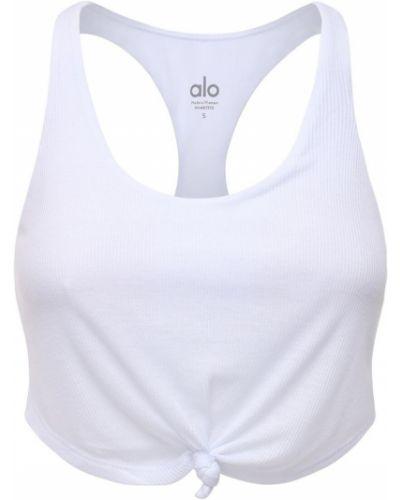 Biały top Alo Yoga