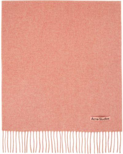 Różowy szalik wełniany Acne Studios