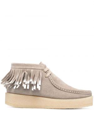 Кожаные белые ботинки на шнуровке Clarks Originals