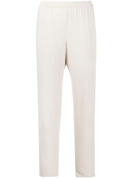 Прямые с завышенной талией кожаные укороченные брюки Eileen Fisher