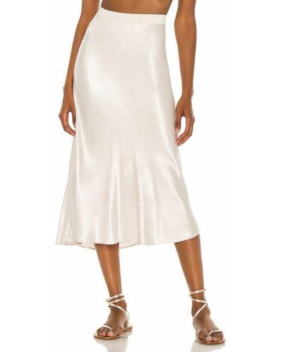 Сатиновая бежевая юбка на резинке Rails