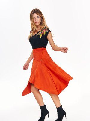 Spódnica materiałowa - pomarańczowa Top Secret