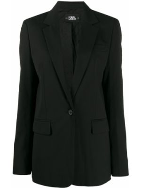 Пиджак черный на пуговицах Karl Lagerfeld