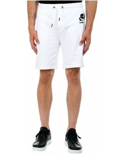 Białe szorty Karl Lagerfeld