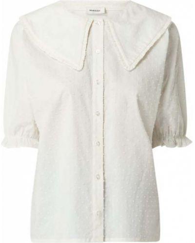 Bluzka bawełniana - biała Modström