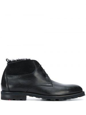 Ботинки на шнуровке шерстяные черные Lloyd
