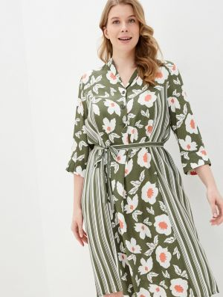 Зеленое платье Ulla Popken