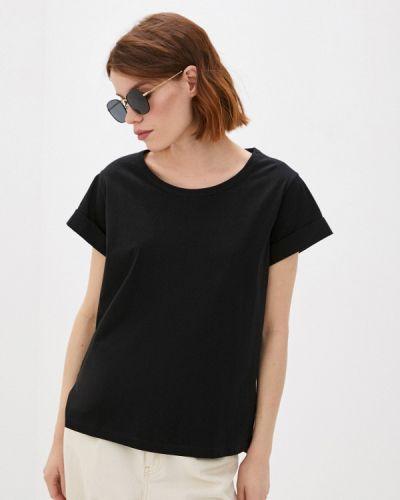 Черная футболка с короткими рукавами Sisley
