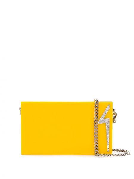 Желтый сумка на цепочке с пряжкой Giuseppe Zanotti