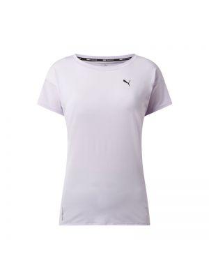 Fioletowy t-shirt z printem Puma