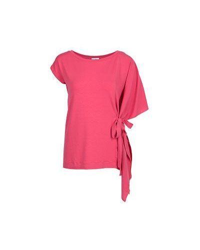 Красная блузка из вискозы Baroni