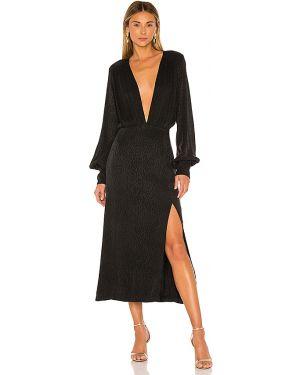 Czarna sukienka na plażę z wiskozy Ellejay