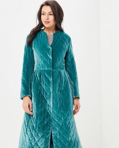 Пальто демисезонное зеленое Solou