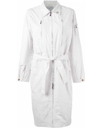 Тренчкот длинный - белый Yves Saint Laurent Vintage