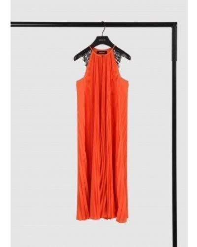 Кружевное платье миди - красное Barbara Bui