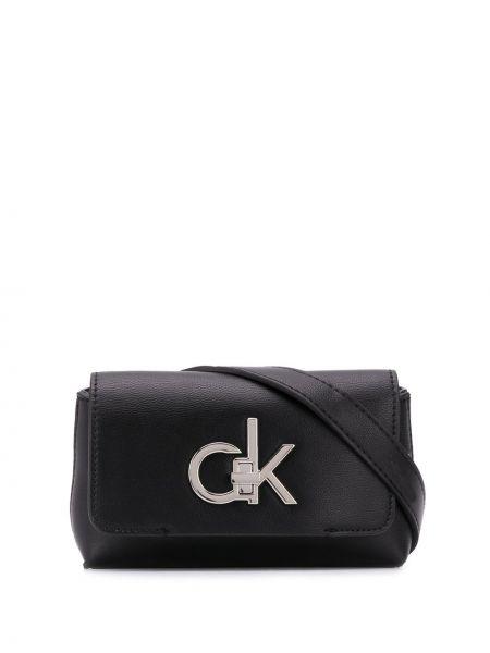 Черная поясная сумка с пряжкой на молнии с карманами Calvin Klein