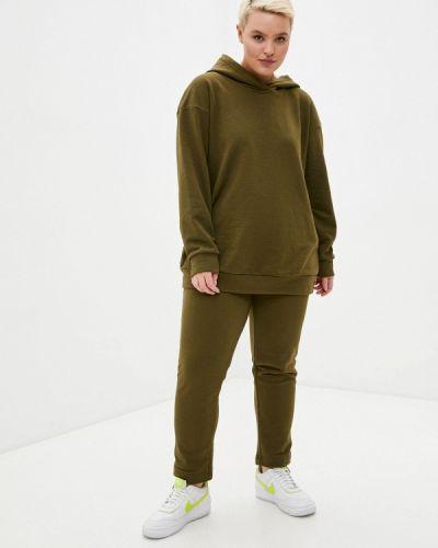 Костюмный спортивный костюм хаки Irma Dressy
