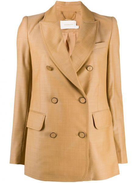 Приталенный пиджак двубортный с карманами Zimmermann